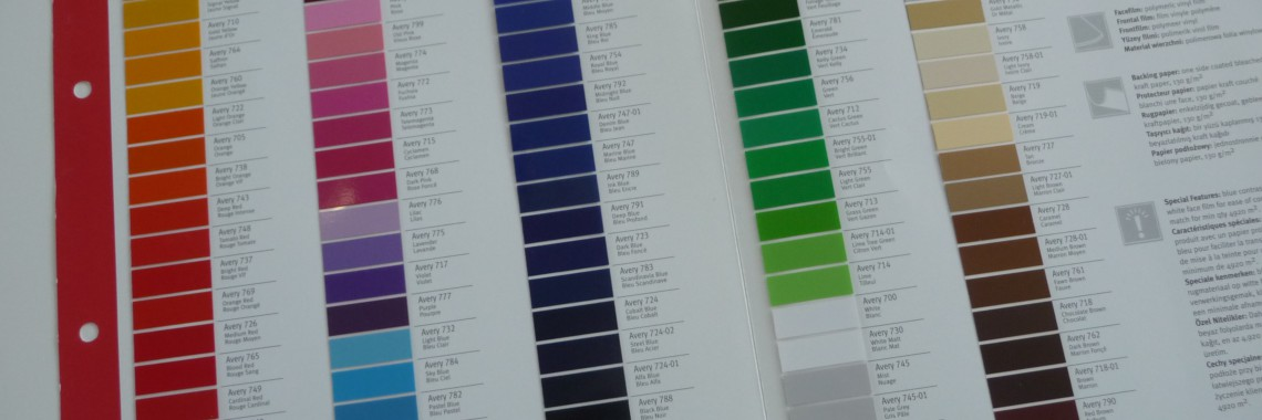 avery kleurenkaart